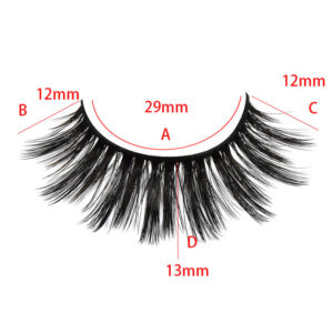 3d mink eyelashes wholesale s813q with size show