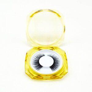Faux Mink lash S17q in clear lash box wholesale by eyelash vendors china
