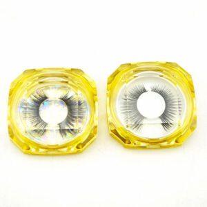 Faux Mink lash S17q wholesale with yellow lash box