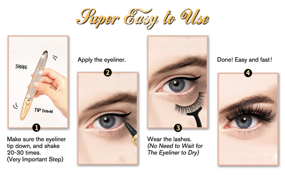 Lashes wear up step by step Tutorial