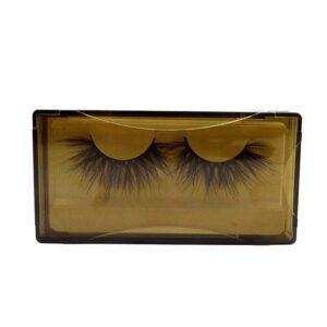 Wispy Mink Lashes S26Q in brown lash case Bulk Wholesale