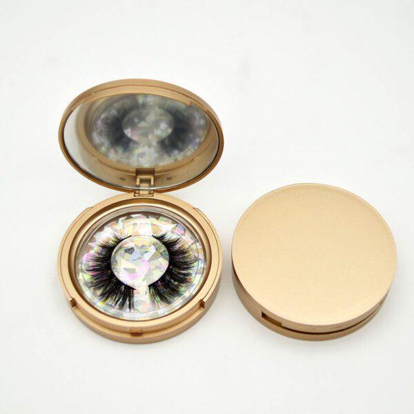 faux mink lashes wholesale private label s 42q with gold case