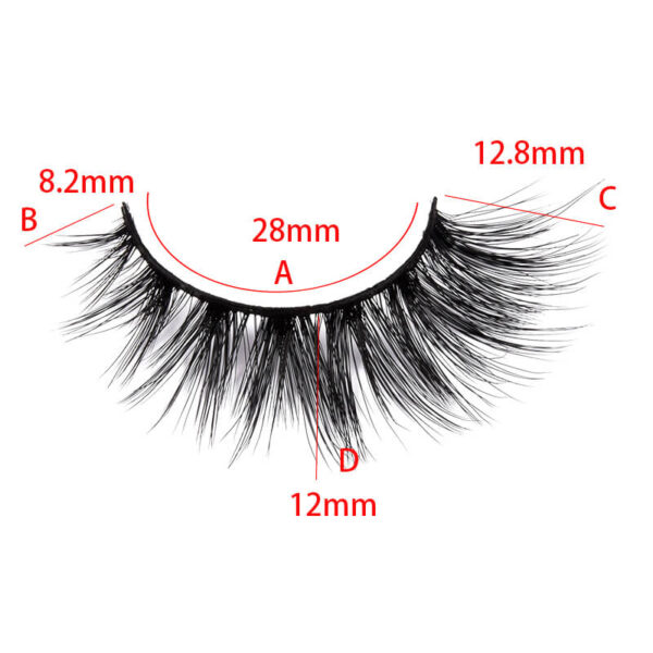 fox eye eyelashes s808q size show
