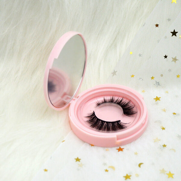 fox eye eyelashes s808q with pink lashes case package
