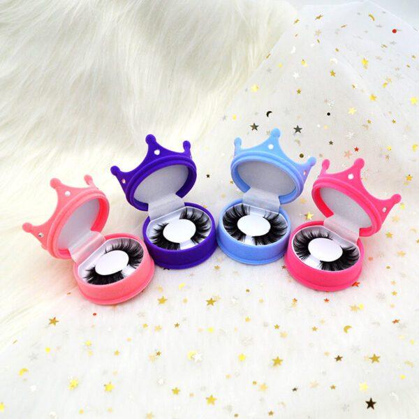 wispy eyelash supplier bulk wholesale s804 eyelash with different color lashes case